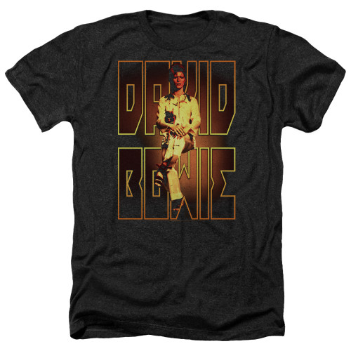 Image for David Bowie Heather T-Shirt - Perched