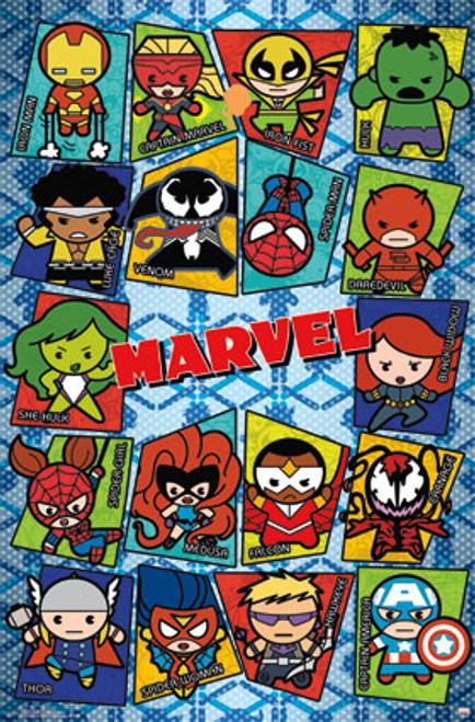 Image for Marvel Kawaii Grid Poster