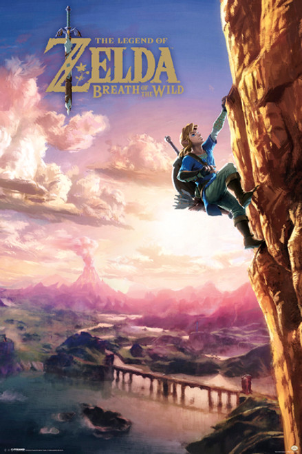Image for Legend of Zelda Poster - Climbing