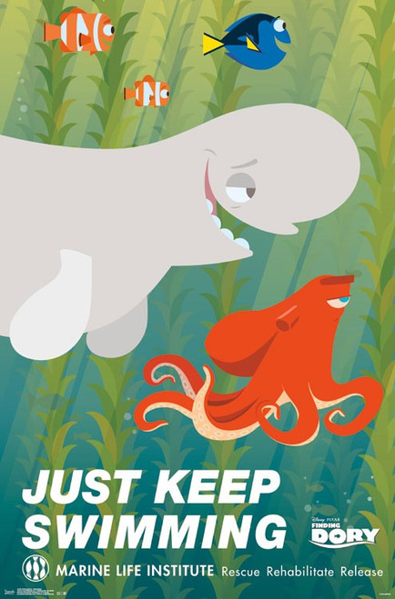 Image for Finding Dory Poster - Keep Swimming