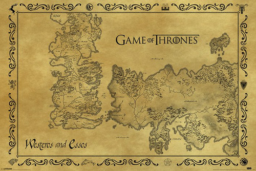 Image for Game of Thrones Poster - Antique Map