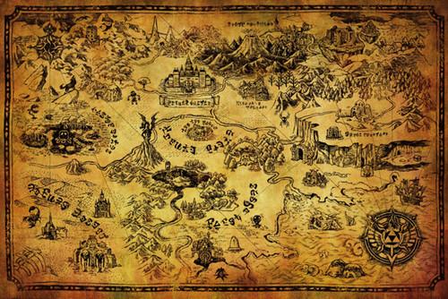 Image for Zelda Poster - Hyrule Map