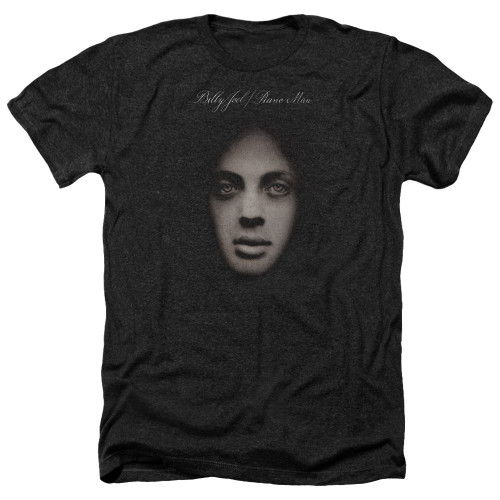 Image for Billy Joel Heather T-Shirt - Piano Man Cover