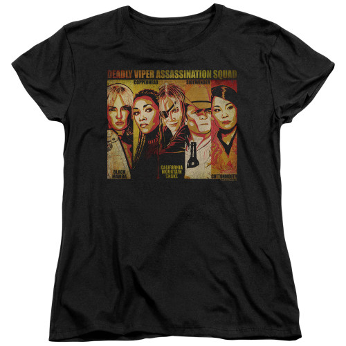 Image for Kill Bill Womans T-Shirt - Deadly Viper Assassination Squad