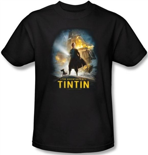 Image Closeup for The Adventures of Tintin Poster T-Shirt