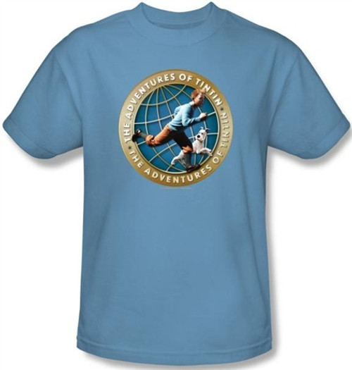 Image for The Adventures of Tintin Around the Globe T-Shirt