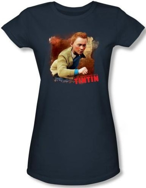 Image for The Adventures of TinTin Girls Shirt - Title