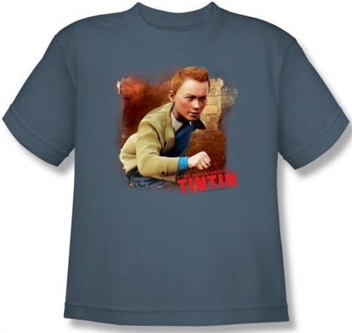 Image for The Adventures of Tintin Youth T-Shirt - Title