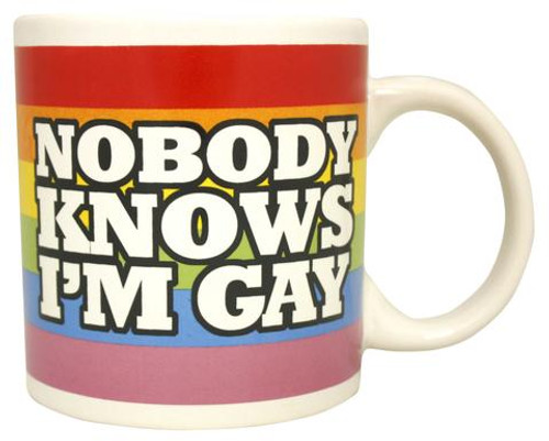 Image for Nobody Knows I Am Gay Coffee Mug