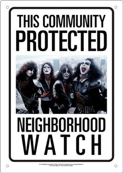 Image for KISS Community Watch Tin Sign