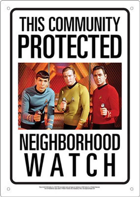 Image for Star Trek Community Watch Tin Sign