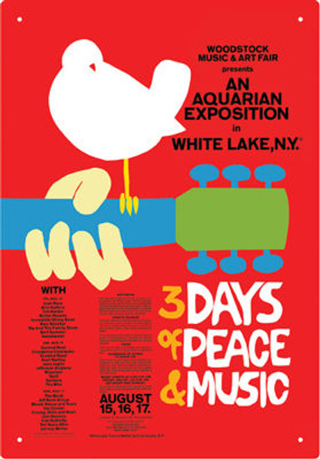 Image for Woodstock Tin Sign