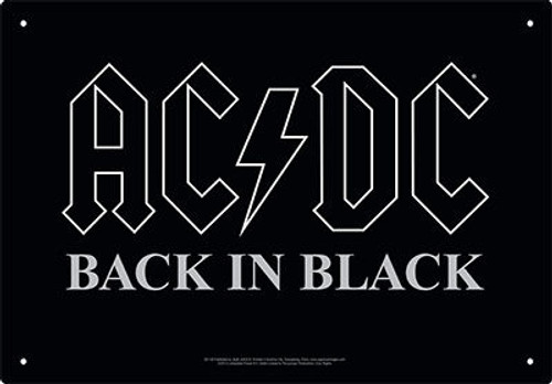 Image for AC/DC Tin Sign - Back In Black
