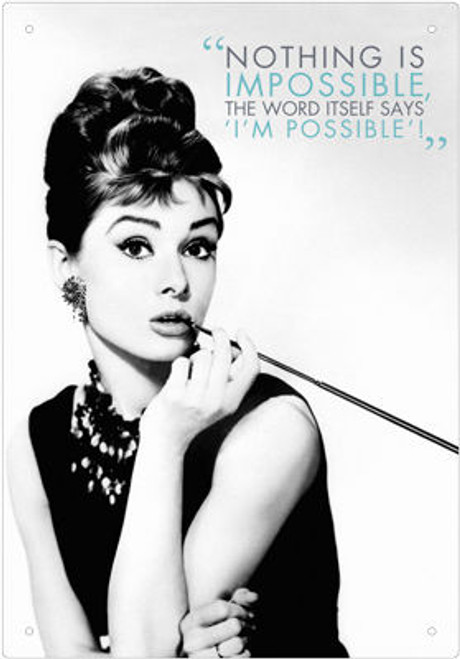 Image for Audrey Hepburn Tin Sign - Quote