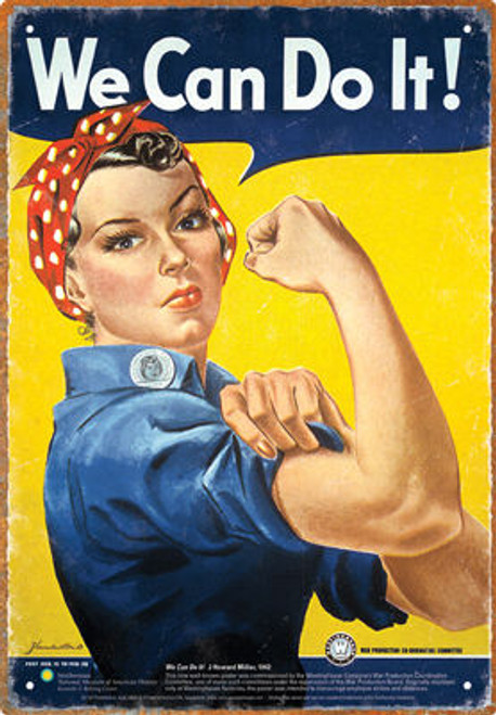 Image for Rosie the Riveter Tin Sign