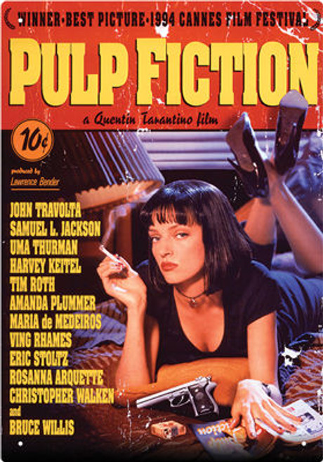 Image for Pulp Fiction Tin Sign - One Sheet