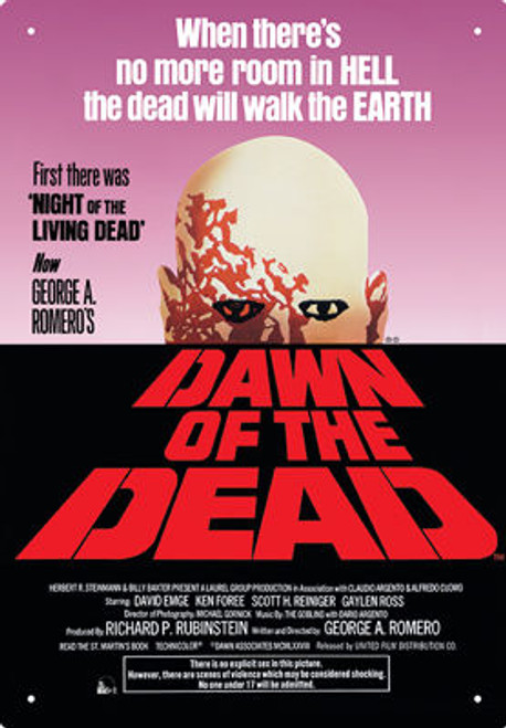 Image for Dawn of the Dead Tin Sign - One Sheet