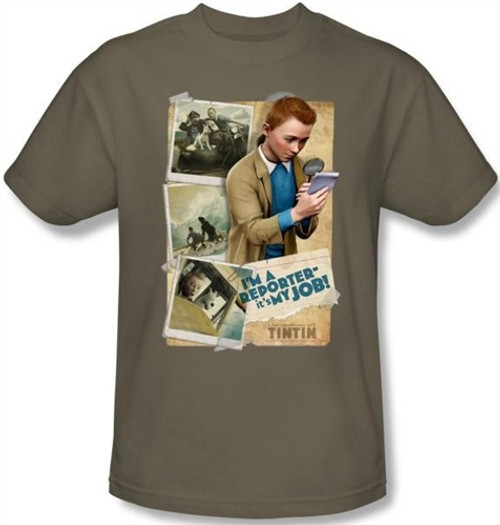 Image for The Adventures of Tintin I'm a Reporter T-Shirt