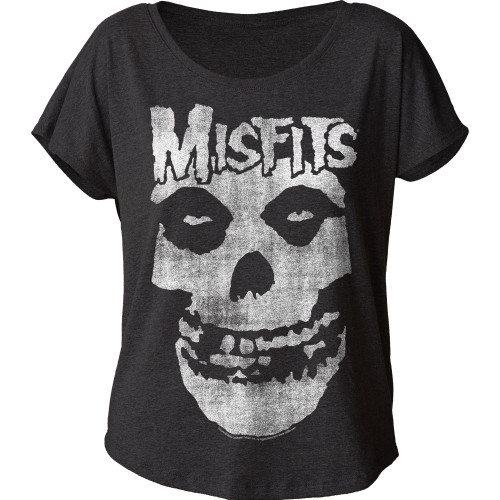 Image for The Misfits Distressed Skull Juniors Dolman
