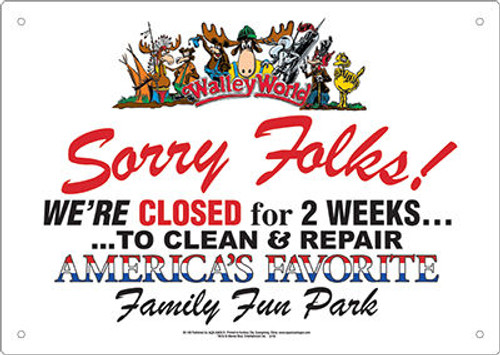 Image for Walley World Tin Sign - Sorry Folks