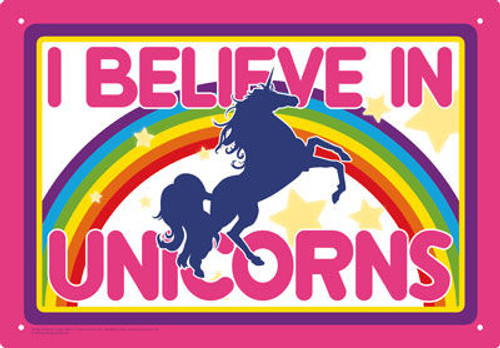 Image for I Believe in Unicorns Tin Sign