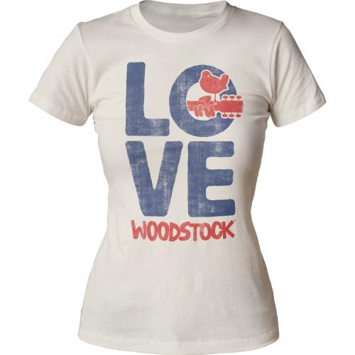 Image for Woodstock Love Juniors Crew Neck Shirt