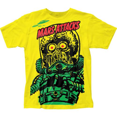 Image for Mars Attacks Subway T-Shirt - Big Yellow Martian