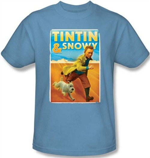 Image for The Adventures of Tintin Tintin & Snowy T-Shirt