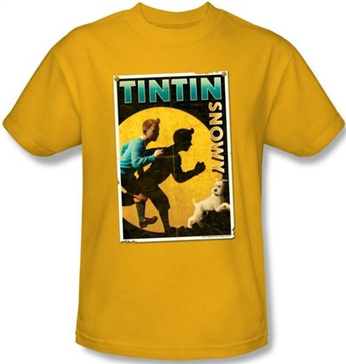 Image for The Adventures of Tintin T Shirts - Tintin & Snowy Flyer