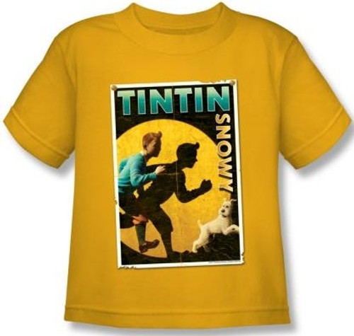 Image for The Adventures of Tintin Kids T-Shirt - Tintin & Snowy Flyer