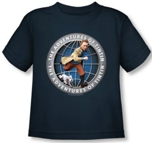 Image for The Adventures of Tintin Globe Toddler T-Shirt