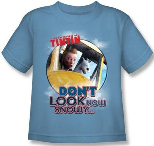 Image for The Adventures of Tintin Kids T-Shirt - Don't Look Now