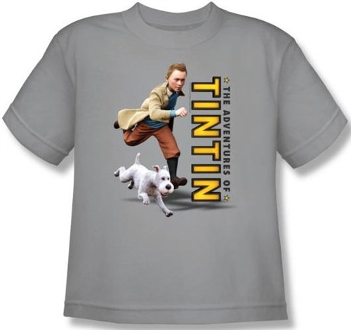 Image for The Adventures of Tintin Youth T-Shirt - Come On Snowy