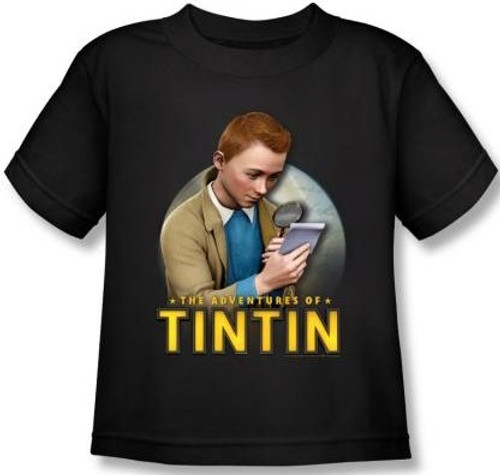 Image for The Adventures of Tintin Kids T-Shirt - Looking for Answers