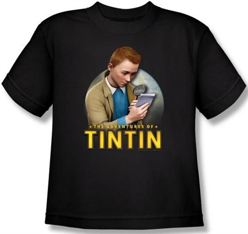 Image for The Adventures of Tintin Youth T-Shirt - Looking for Answers