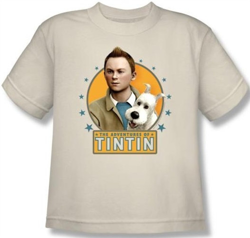 Image for The Adventures of Tintin Youth T-Shirt - Buddies