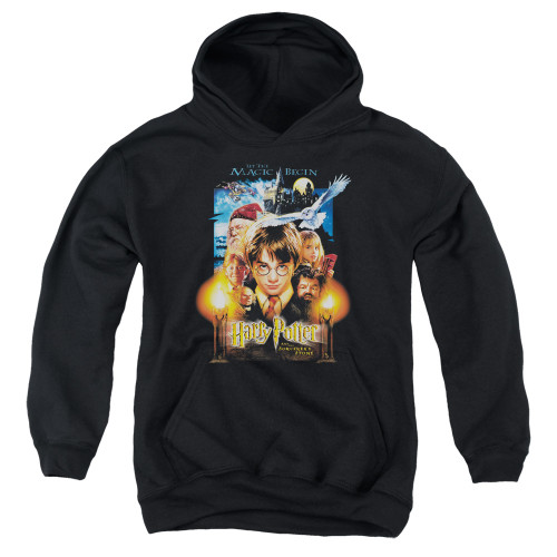 Image for Harry Potter Youth Hoodie - Movie Poster