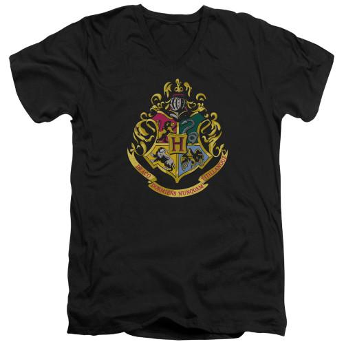 Image for Harry Potter V Neck T-Shirt - Hogwarts Crest