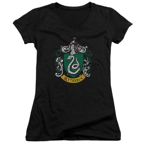 Image for Harry Potter Girls V Neck - Slytherin Crest