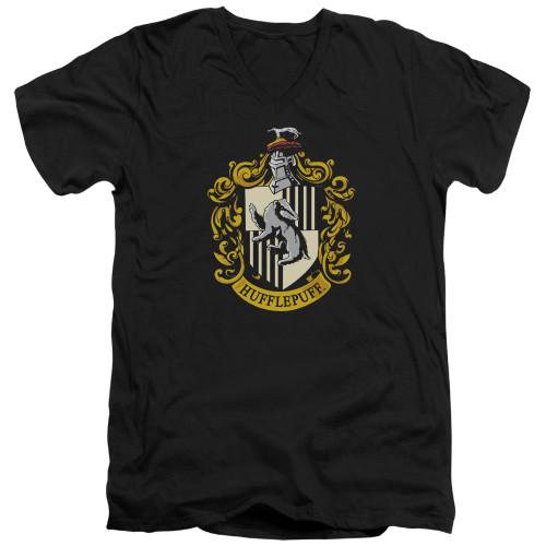 Image for Harry Potter V Neck T-Shirt - Hufflepuff Crest