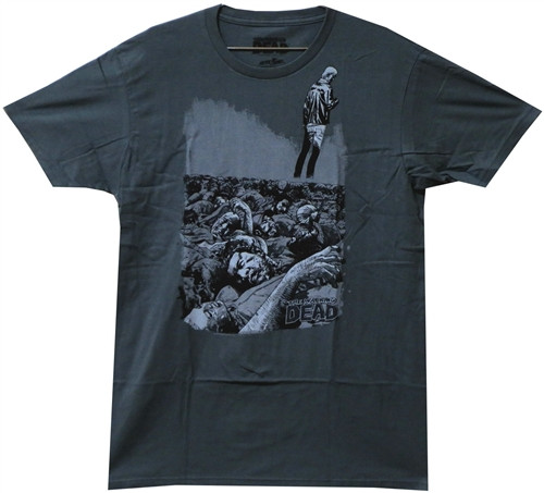 Image Closeup for Zombie T-Shirt - The Walking Dead T-Shirt - Pile Premium