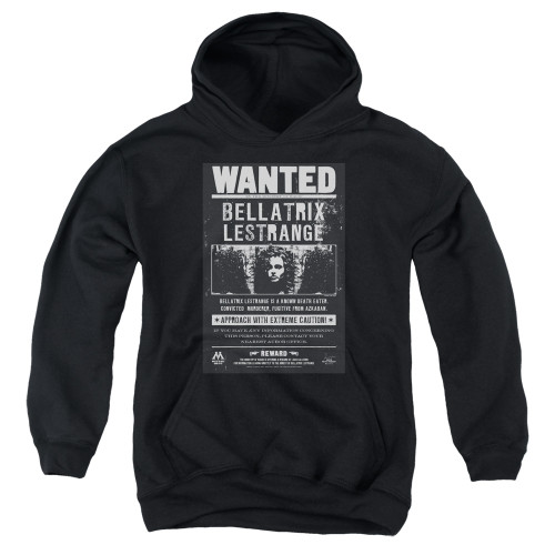 Image for Harry Potter Youth Hoodie - Bellatrix Lestrange Wanted Poster