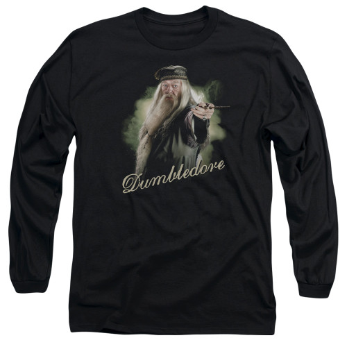 Image for Harry Potter Long Sleeve Shirt - Dumbledore Wand