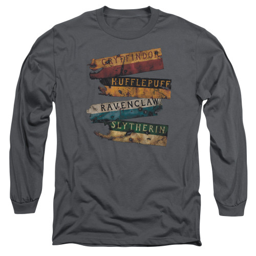 Image for Harry Potter Long Sleeve Shirt - Burnt Banners