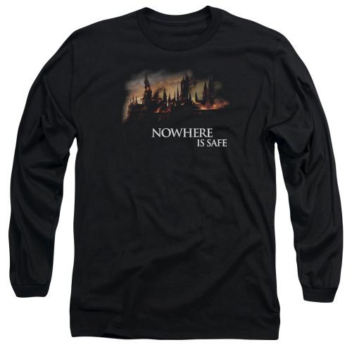 Image for Harry Potter Long Sleeve Shirt - Burning Hogwarts