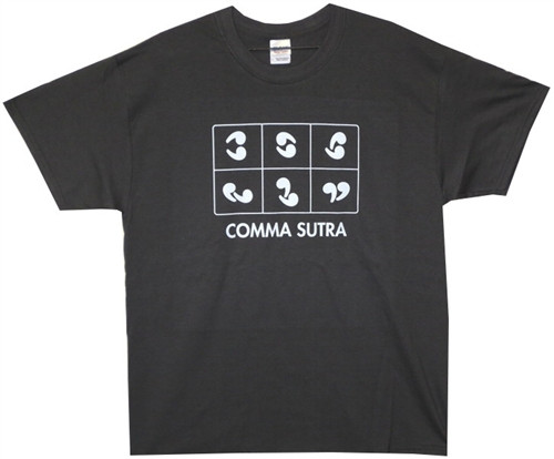 Image Closeup for Comma Sutra T-Shirt