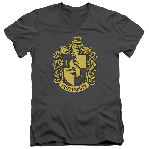 Image for Harry Potter V Neck T-Shirt - Classic Hufflepuff Crest