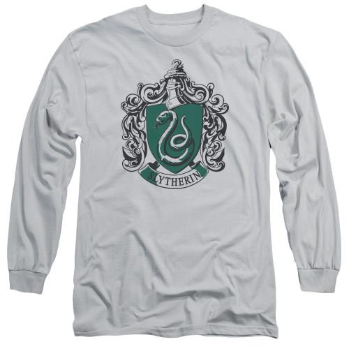 Image for Harry Potter Long Sleeve Shirt - Slytherin Silver Crest
