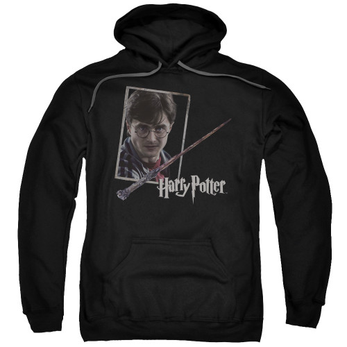 Image for Harry Potter Hoodie - Harry's Wand Portrait