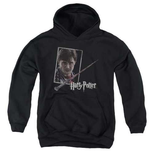 Image for Harry Potter Youth Hoodie - Harry's Wand Portrait